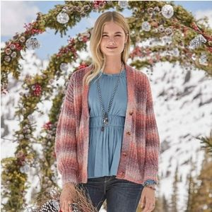 Sundance Northern Lights Ombre Wool Cardigan